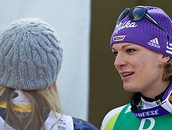 13.02.2011, Kandahar, Garmisch Partenkirchen, GER, FIS Alpin Ski WM 2011, GAP, Damen Abfahrt, im Bild zweite, silber Medaille, Lindsey Vonn (USA) und dritte, bronze Medaille Maria Riesch (GER) // second, siver Medal Lindsey Vonn (USA) with third, bronze Medal Maria Riesch (GER) during womens Downhill, Fis Alpine Ski World Championships in Garmisch Partenkirchen, Germany on 13/2/2011, 2011, EXPA Pictures © 2011, PhotoCredit: EXPA/ J. Feichter