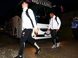 Sam Maunder and Ollie Lawrence arrive before the game - Mandatory by-line: Ken Sutton/JMP - 01/02/2019 - RUGBY - Irish Independent Park - Cork, Cork - Ireland U20 v England U20 -