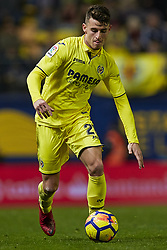 January 7, 2018 - Vila-Real, Castellon, Spain - Raba of Villarreal CF with the ball during the La Liga game between Villarreal CF and Deportivo La Coruna at Estadio de la Ceramica on January 7, 2018 in Vila-real, Spain  (Credit Image: © David Aliaga/NurPhoto via ZUMA Press)