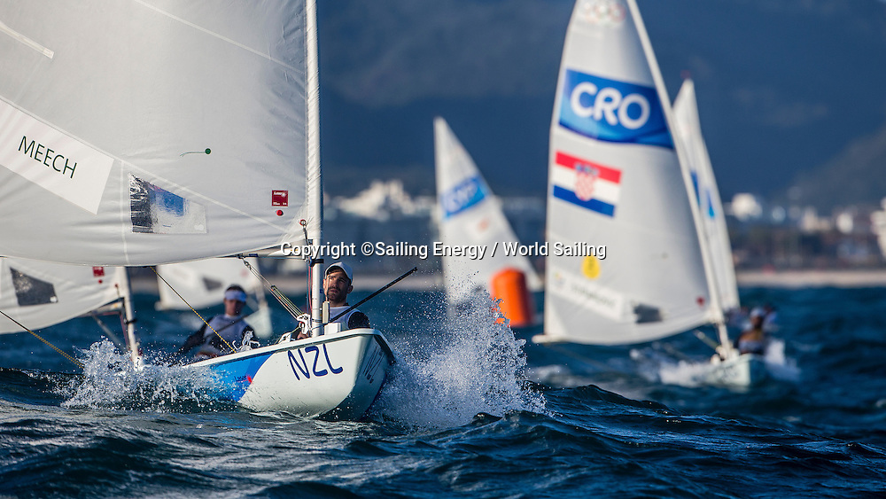 Sam Meech of New Zealand racing in the Laser class. The Rio 2016 Olympic Sailing Competition features 380 athletes from 66 nations, in 274 boats racing across ten Olympic disciplines. Racing runs from Monday 8 August through to Thursday 18 August 2016 with 217 male and 163 female sailors racing out of Marina da Gloria in Rio de Janeiro, Brazil. Sailing made its Olympic debut in 1900 and has been a mainstay at every Olympic Games since 1908. For more information or requests please contact Daniel Smith at World Sailing on marketing@sailing.org or phone +44 (0) 7771 542 131.