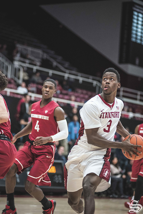 Malcolm Allen #3 vs. Washington State on January 12, 2017 at Maples Pavilion in Stanford, CA. Photo by Ryan Jae.