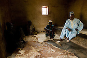 Chief and elders in the chief's palace in the village of Gidan-Turu, northern Ghana on Thursday March 26, 2009..