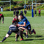 Action during the  the college rugby union game played between Kapiti College  v Aotea College played at  Porirua , Wellington, New Zealand, on 24 August  2019.   Final score 29 v 7 to Aotea