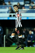 Mikel Merino (#23) of Newcastle United reacts after his shot is saved during the Premier League match between Newcastle United and Brighton and Hove Albion at St. James's Park, Newcastle, England on 30 December 2017. Photo by Craig Doyle.