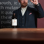 Apothecarist Tim Foster. The launch of the Lindores Abbey Distillery Aqua Vitae. Newburgh. 19 Mar 2018. &copy; Copyright photograph by Tina Norris. Free first use. More info: fionaleith@riverpublicrelations.co.uk<br /> Mobile: 07484 312 838 Photographer: Tina Norris 07775 593 830 info@tinanorris.co.uk www.tinanorris.co.uk http://tinanorris.photoshelter.com