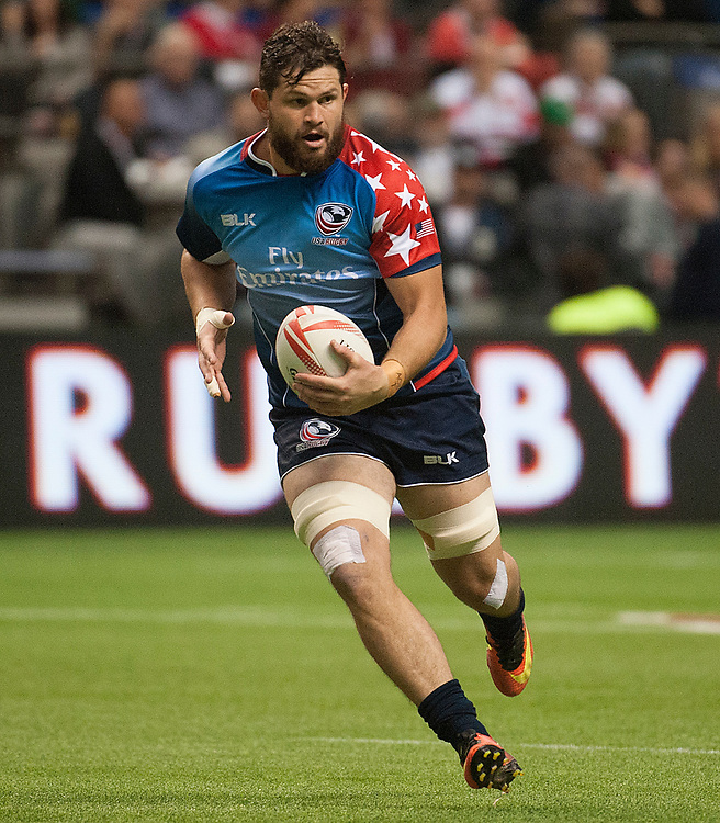Danny Barrett of the United States during the pool stages of the Canada Sevens,  Round Six of the World Rugby HSBC Sevens Series in Vancouver, British Columbia, Saturday March 11, 2017. <br /> <br /> Jack Megaw.<br /> <br /> www.jackmegaw.com<br /> <br /> jack@jackmegaw.com<br /> @jackmegawphoto<br /> [US] +1 610.764.3094<br /> [UK] +44 07481 764811