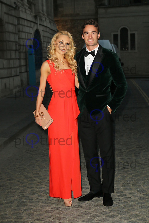 Iveta Lukosiute; Thom Evans, Dot Com Children's Foundation Strictly Ballroom - charity dinner, The Mansion House, London UK, 16 September 2014, Photo by Richard Goldschmidt