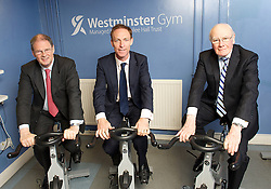 Fighting Fitter Campaign.<br /> (L-R) James Arbuthnot, Chair of the Defence Select Committee, Jim Murphy MP, Labour's Shadow Defence Secretary, and former Olympian Sir Menzies Campbell<br /> at The House of Commons Gym, London, Great Britain, 25th June 2013.<br /> Jim Murphy MP, Labour's Shadow Defence Secretary, James Arbuthnot, Chair of the Defence Select Committee, and former Olympian Sir Menzies Campbell, during a photo-call to promote the 'Fighting Fitter' campaign, which provides members of the Armed Forces and their families with discounts to health and leisure facilities.<br /> London, United Kingdom<br /> Tuesday, 25th June 2013<br /> Picture by Elliot Franks / i-Images