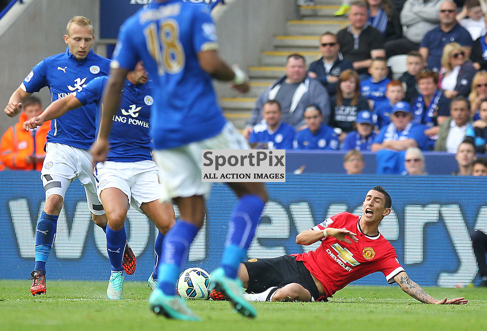 during the Barclays Premiership match between Leicester City FC and Manchester United FC, at the King Power Stadium, Leicester, 21st September 2014 © Phil Duncan | SportPix.org.uk