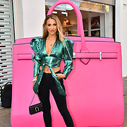 Sophie Herman arrive at the Handbag Clinic - relaunch at 382 King's Road on 4 September 2019, London, UK.