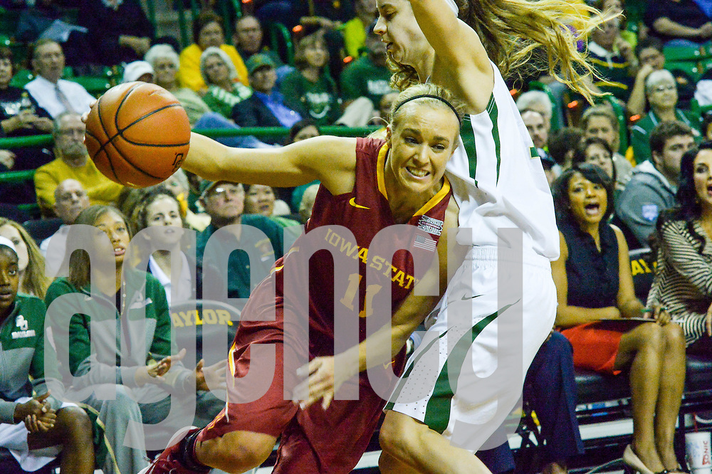 Feb 20, 2014, G #11 Jadda Buckley,  Baylor Bear  vs. Iowa State Cyclone at the Ferrell Center, Waco, Texas
