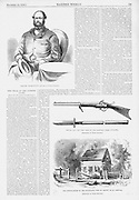 Pre Civil War Virginia. The effects of John Brown's Invasion of the South to spark a slave rebellion by seizing the arsenal at Harper's Ferry, Virginia (present day West Virginia ), just before the start of the Civil War. Portrait of Colonel Washington and Brown's weapons. Harper's Weekly November 12, 1859 Illustrations by Porte Crayon (David Hunter Strother)