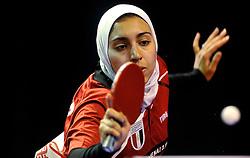 09-05-2011 TAFELTENNIS: WORLD TABLE TENNIS CHAMPIONSHIPS: ROTTERDAM<br /> Sara Hassan from Egypt<br /> ©2011-FotoHoogendoorn.nl