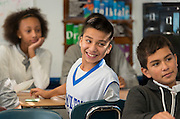Students participate in an AVID class at Hamilton Middle School, January 8, 2015.
