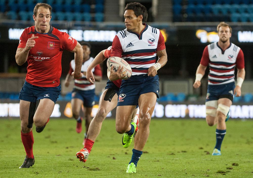 Chile play the United States at the Silicon Valley Sevens in San Jose, California. November 4, 2017. <br /> <br /> By Jack Megaw.<br /> <br /> CHLUSA<br /> <br /> <br /> <br /> www.jackmegaw.com<br /> <br /> jack@jackmegaw.com<br /> @jackmegawphoto<br /> [US] +1 610.764.3094<br /> [UK] +44 07481 764811