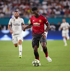 July 31, 2018 - Miami Gardens, Florida, USA - Manchester United F.C. defender Timothy Fosu-Mensah (24) controls the ball during an International Champions Cup match between Real Madrid C.F. and Manchester United F.C. at the Hard Rock Stadium in Miami Gardens, Florida. Manchester United F.C. won the game 2-1. (Credit Image: © Mario Houben via ZUMA Wire)