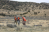 Successful Young Hunters with a Mule Deer Buck