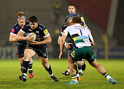 Cameron Neild of Sale Sharks takes on Alex Waller of Northampton Saints - Mandatory by-line: Matt McNulty/JMP - 03/03/2017 - RUGBY - AJ Bell Stadium - Sale, England - Sale Sharks v Northampton Saints - Aviva Premiership