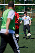 Warsaw, Poland - 2017 May 18: Training session of Special Olympics football team after press conference while the annual Special Olympics European Football Week at Legia Warsaw on May 18, 2017 in Warsaw, Poland.<br /> <br /> Adam Nurkiewicz declares that he has no rights to the image of people at the photographs of his authorship.<br /> <br /> Picture also available in RAW (NEF) or TIFF format on special request.<br /> <br /> Any editorial, commercial or promotional use requires written permission from the author of image.<br /> <br /> Image can be used in the press when the method of use and the signature does not hurt people on the picture.<br /> <br /> Mandatory credit:<br /> Photo by © Adam Nurkiewicz / Mediasport