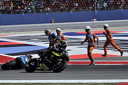 September 8, 2017 - Misano Adriatico, Italy - Johann Zarco  (Monster Yamaha Tech 3) with Jack Miller (EG 0,0 Marc VDS team) crash on  background  during free practice for Britsh  MotoGP at Misano World circuit (Credit Image: © Gaetano Piazzolla/Pacific Press via ZUMA Wire)
