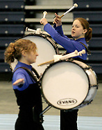 Springboro High School competes at the Dayton Percussion Regional Finals, in the James Trent Arena, Sunday morning.