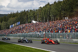 September 1, 2019, Spa-Francorchamps, Belgium: Motorsports: FIA Formula One World Championship 2019, Grand Prix of Belgium, ..#5 Sebastian Vettel (GER, Scuderia Ferrari Mission Winnow), #44 Lewis Hamilton (GBR, Mercedes AMG Petronas Motorsport) (Credit Image: © Hoch Zwei via ZUMA Wire)