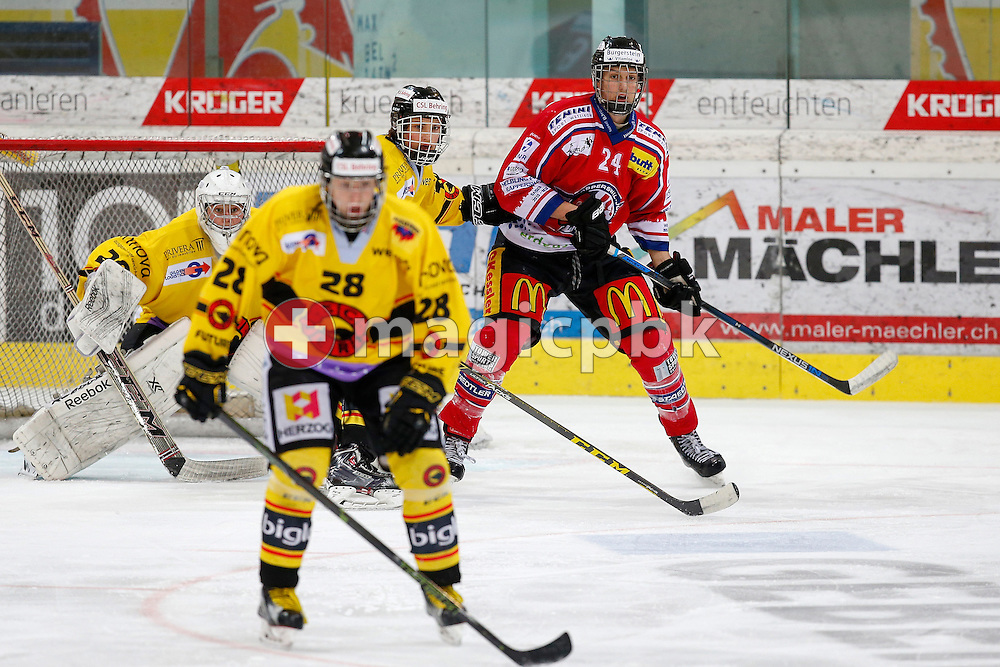 Rapperswil-Jona Lakers forward Maurice HUMBERT (R) is pictured during a Novizen Elite ice hockey game between Rapperswil-Jona Lakers and SC Bern Future held at the Diners Club Arena in Rapperswil, Switzerland, Saturday, Feb. 6, 2016. (Photo by Patrick B. Kraemer / MAGICPBK)