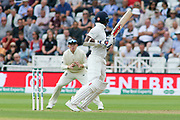 Shikhar Dhawan of India snicks through the slips during the 3rd International Test Match 2018 match between England and India at Trent Bridge, Wicest Bridgford, United Kingdon on 18 August 2018.