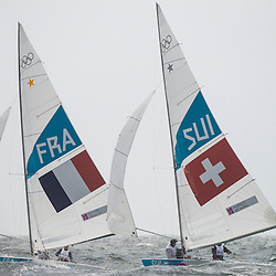 2012 Olympic Games London / Weymouth<br /> <br /> Rohart Xavier, PONSOT Pierre-Alexis, (FRA, Star)<br /> Marazzi Flavio, De Maria Enrico, (SUI, Star)