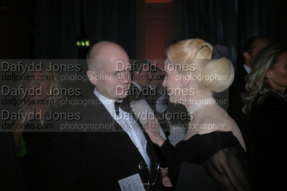 William Hague and Lady Judge. The Black and White Winter Ball. Old Billingsgate. London. 8 February 2006. -DO NOT ARCHIVE-© Copyright Photograph by Dafydd Jones 66 Stockwell Park Rd. London SW9 0DA Tel 020 7733 0108 www.dafjones.com