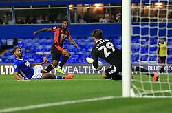 Jermain Defoe of Bournemouth shots but sees it saved by Tomasz Kuszczak of Birmingham City  - Mandatory by-line: Paul Roberts/JMP - 22/08/2017 - FOOTBALL - St Andrew's Stadium - Birmingham, England - Birmingham City v Bournemouth - Carabao Cup
