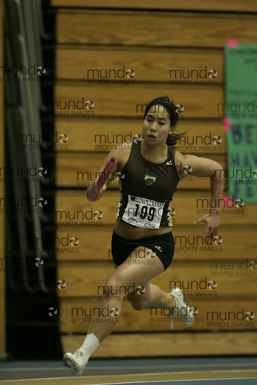 (Windsor, Ontario---12 March 2010) Lisa Wong of University of Manitoba   competes in the  at the 2010 Canadian Interuniversity Sport Track and Field Championships at the St. Denis Center. Photograph copyright Geoff Robins/Mundo Sport Images. www.mundosportimages.com