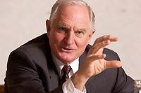 30 OCT 2003, BERLIN/GERMANY:<br /> Craig Barrett, CEO Intel Corp., waehrend einem  Interview, Hotel Palace<br /> IMAGE: 20031030-01-046<br /> KEYWORDS: Chef, Intel-Chef