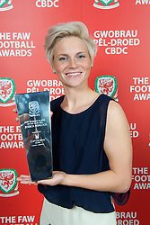CARDIFF, WALES - Monday, October 8, 2012: Wales Women's Player of the Year Jessica Fishlock with her award during the FAW Player of the Year Awards Dinner at the National Museum Cardiff. (Pic by David Rawcliffe/Propaganda)