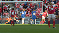 Football - SSE Women's FA Cup Final - Arsenal Women vs. Chelsea Ladies<br /> <br /> Vivianne Miedema (Arsenal Women FC) turns the ball in take give Arsenal Ladies a chance at Wembley Stadium.<br /> <br /> COLORSPORT/DANIEL BEARHAM