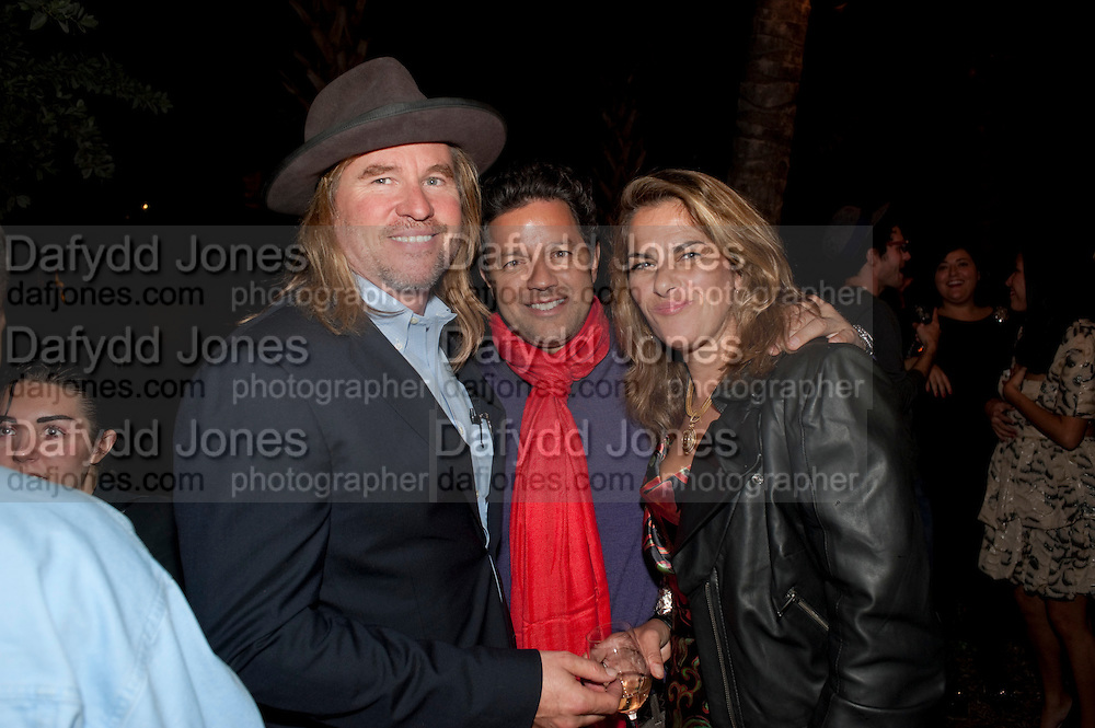 VAL KILMER; GEORGE PEREZ; ; TRACEY EMIN , White cube party. Soho House, Miami Beach. Miami Art Basel 201. 29 November 2011.