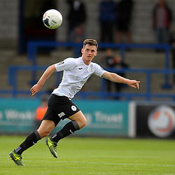 TELFORD COPYRIGHT MIKE SHERIDAN Ross White of Telford during the National League North fixture between AFC Telford United and Gateshead FC at the New Bucks Head Stadium on Saturday, August 10, 2019<br /> <br /> Picture credit: Mike Sheridan<br /> <br /> MS201920-005