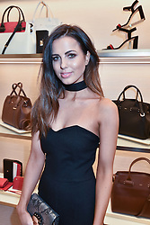 Sophia Smith at a party to celebrate the launch of the new Furla Flagship store, 71 Brompton Road, London England. 2 February 2017.