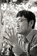 Akihiro Yoshikawa på hjälporganisationen Appreciate Fukushima Workers försöker underlätta situationen för arbetarna på Daiichis kärnkraftverk. Fukushima Prefektur, JapanPrefektur, Japan