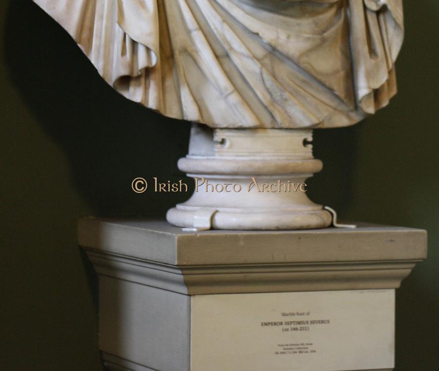Marble bust of Emperor Septimus Serverus. Roman. AD 146-211.