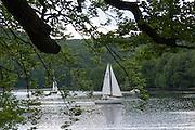 Segelboote am Edersee, Nordhessen, Hessen, Deutschland | sailing boats on Lake Eder, Hesse, Germany