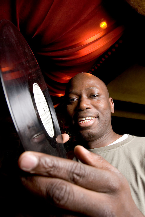Photo © Joel Chant.DJ Papa Dudu Sarr seen here in West London bar Momo, 14/11/06