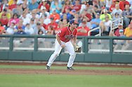 Mississippi's Sikes Orvis (24) vs. Virginia in the College World Series in Omaha, Neb. on Sunday, June 15, 2014. Virginia won 2-1.