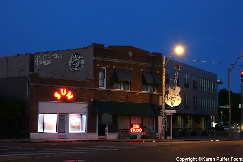 Sun Studios, Memphis, Tennessee is where Elvis Presley and many other early rock and rollers first recorded his music.