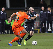 Dundee's Gary Harkins goes past Kilmarnock's Manuel Pascali -  Dundee v Kilmarnock, SPFL Premiership at Dens Park <br /> <br /> <br />  - &copy; David Young - www.davidyoungphoto.co.uk - email: davidyoungphoto@gmail.com