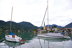 ROTTACH-EGERN, GERMANY - Thursday, July 27, 2017: Boats on Lake Tegernsee on day two of their preseason training camp in Germany. (Pic by David Rawcliffe/Propaganda)