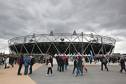 © Licensed to London News Pictures..05/05/2012 Official opening of the London 2012 Olympic Stadium and Olympic Park to the public as part of the London Prepares series of test events..Photo credit :LNP