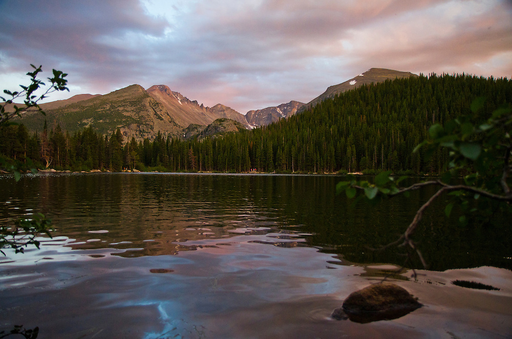 Bear Lake, sunsest, Rocky Mountain National Park, Colorado