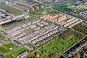 Nederland, Vleuten - de Meern, Leidsche Rijn, 01-04-2016; de wijk Veldhuizen met Kloosterpark.<br /> New housing estate near Utrecht.<br /> luchtfoto (toeslag op standard tarieven);<br /> aerial photo (additional fee required);<br /> copyright foto/photo Siebe Swart