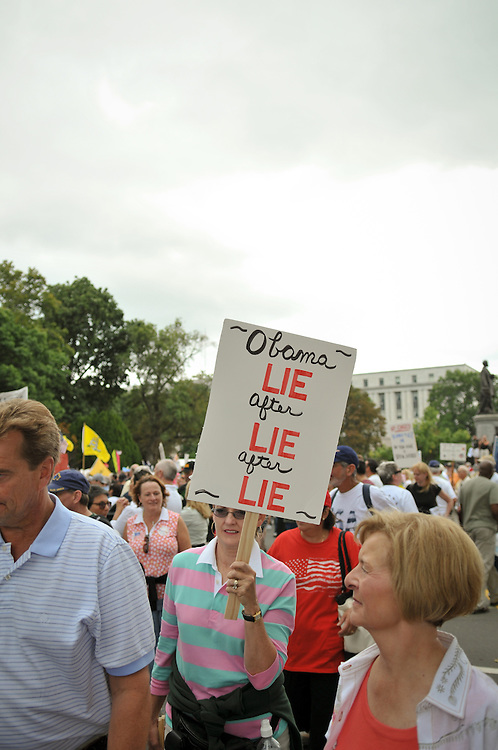 The Tea Party protest was held on September 12, 2009, in Washington, D.C. The protesters rallied against what they consider big government, the dismantling of free market capitalism, abortion, and President Barack Obama's proposals on health care reform, taxation, and federal spending, among other issues.The march is considered to be the largest gathering of fiscal conservatives ever held in Washington, D.C., as well as the largest demonstration against President Obama's administration to date.